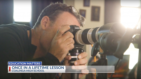 Peter Hurley spends the day inspiring high school students at Coalinga High School in California